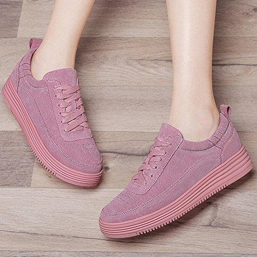 KHSKX-Zapatos Casuales Zapatos De Suela En La Marea De Primavera La Nueva Hembra Formadores. Pink
