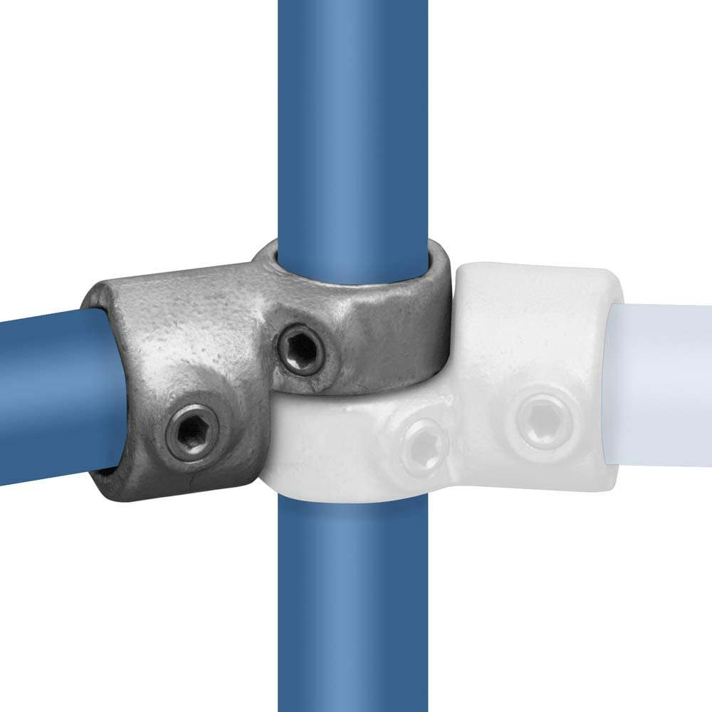 Stellschrauben Pro St/ück - /Ø 33,7 mm Temperguss thermisch vollbadverzinkt inkl Rohrverbinder Winkelgelenk Verstellbar
