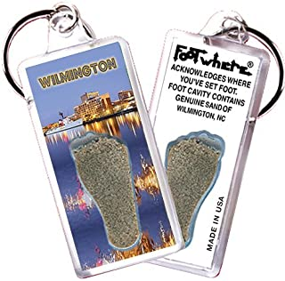 product image for Wilmington, NC FootWhere Souvenir Keychain. Made in USA (WLM106 - Waterfront)