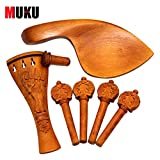 Exquisite Carved Boxwood Acoustic Violin Tuning Pegs Set for 4/4 Violin Accessories