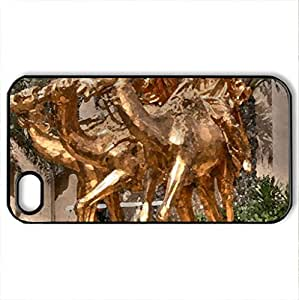Arabian Statue 2 - Case Cover for iPhone 4 and 4s (Monuments Series, Watercolor style, Black)