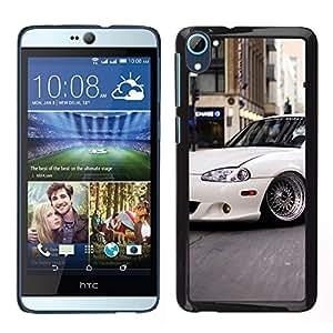 CASECO - HTC Desire D826 - Slammed Miata - Delgado Negro Plástico caso cubierta Shell Armor Funda Case Cover - Slammed Miata