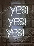 Desung Brand New 14'' Yes Yes Yes Gift Lamp Decorated Acrylic Panel Handmade Custom Design Neon Sign Light WD44