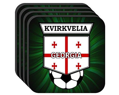 Davits Set - Davit Kvirkvelia (Georgia) Soccer Set of 4 Coasters