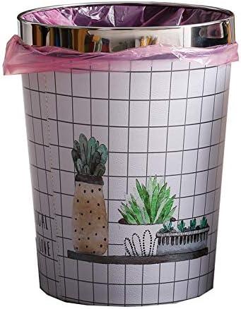 Cupcinu Poubelle en papier avec anneau de pression d/écouvert Licorne impression PU poubelle en cuir peut /étanche rond poubelle seau pour salle de bains cuisine bureau 1 PCS