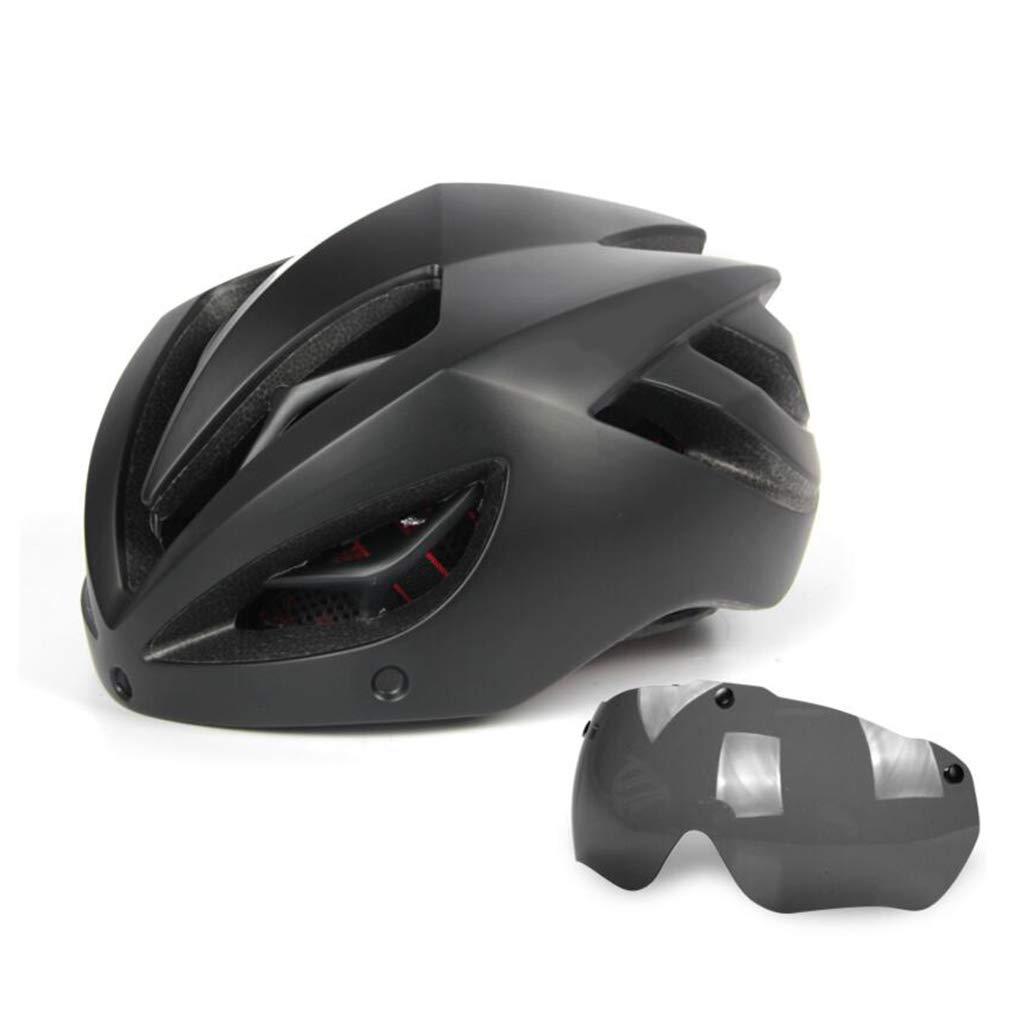 お手頃価格 キールゴーグルサイクルヘルメット B07PTQGCZJ 黒、ロードマウンテンバイクヘルメット軽量専門男性女性乗馬ヘルメット自転車レーシング安全キャップ B07PTQGCZJ 黒, 株式会社屋久島ロック:b87680ed --- a0267596.xsph.ru