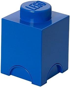 Plast Team PT40011 - Caja diseño Ladrillo de Lego en color azul [Importado de Alemania]: Amazon.es: Juguetes y juegos