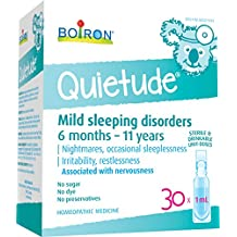 Boiron Quietude, 30 Unit-Doses (1 ml Each), Children's Homeopathic Medicine for the Relief of Mild Sleeping Disorders, Irritability, Restlessness Associated with Nervousness