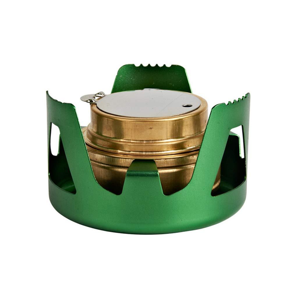 Ogquaton Mini Estufa de Alcohol port/átil con Quemador de Alcohol Estufa de Alcohol al Aire Libre Estufas de Alcohol Mini Set de Estufa para Caminatas Verde