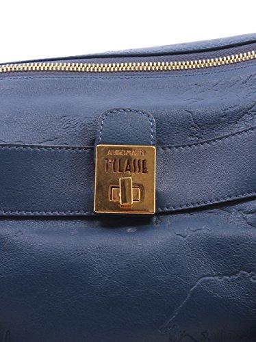 Borsa Tracolla Donna ALVIERO MARTINI 1 Classe Calf Leather Shoulder Bag Blue New