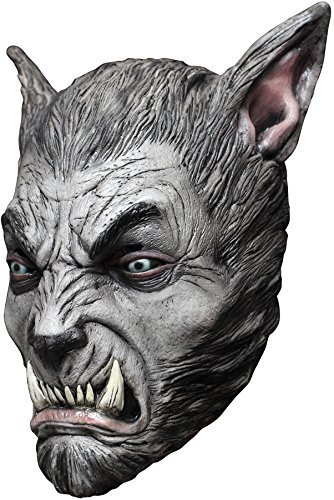 Beast Silver Wolf Latex Mask (UHC Men's Horror Werewolf Beast Theme Party Latex Halloween Costume Mask)