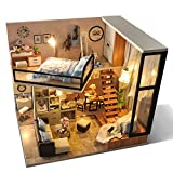 sport fitness DIY Doll House Wooden Doll Houses Miniature dollhouse Furniture Kit Toys Mini Furniture Decoration Christmas Gift