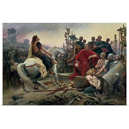 - GREATBIGCANVAS Poster Print Entitled Vercingetorix Throws Down his arms at The feet of Julius Caesar, 1899 by Lionel (1852-1926) Royer 36