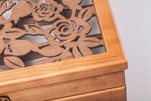 HYT Rose Carved Six Layer Jewelry Box Burlywood by Legoyo (Image #5)