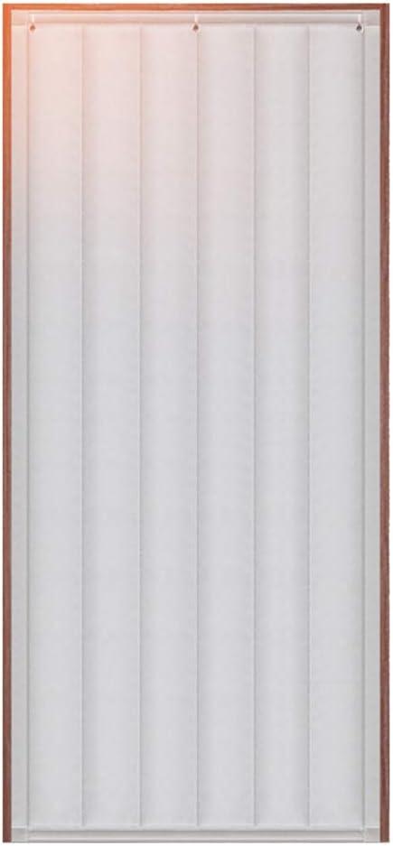 JZDCSCDNS-lian Cortina De Puerta Espesar con Ventana de Cristal Invierno Tela Oxford Aislamiento Impermeable Aislamiento acústico Adecuado para habitación Dormitorio,Blanco,0.9 * 2.0m
