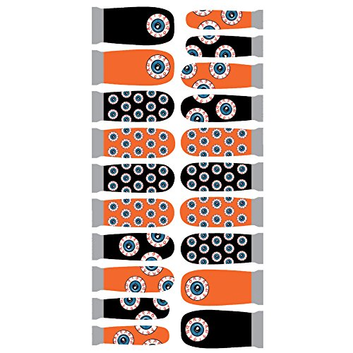 Winstonia Designer Nail Wrap - All Eyes Halloween -