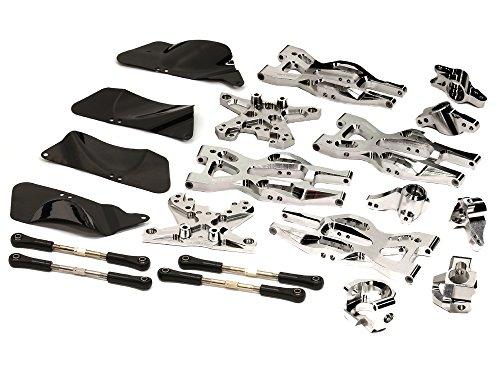 Mt Billet (Integy RC Model Hop-ups T8695SILVER Billet Machined Suspension Kit for HPI 1/10 Bullet MT & Bullet ST)