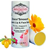 Choco*Smooch Organic Baby Lip & Face Balm, with Argan, Calendula and Sea Buckthorn, 0.75oz Jumbo