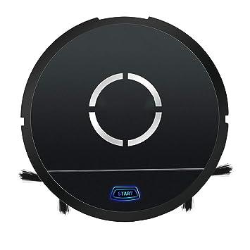 QLPP Aspiradora de Robot con succión Potente, Cubo de Polvo de 350ml, Cepillo autolimpiador