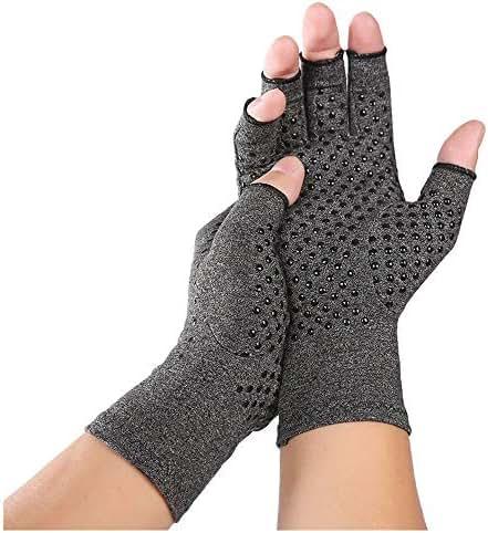 Gallity Compression Arthritis Gloves, Rheumatoid Compression Hand Glove for Men & Women, Heat Hand Gloves for Computer Typing, Relieve Pain from Rheumatoid Arthritis (M, Gray)