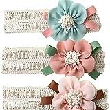 Headbands for Baby Girls Elastic Headband Chiffon Flower for Newborn,Toddler and Kids