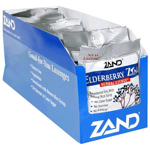 ZAND Herbalozenge pastilles, sureau zinc, sac de 15 pastilles, 12 Count