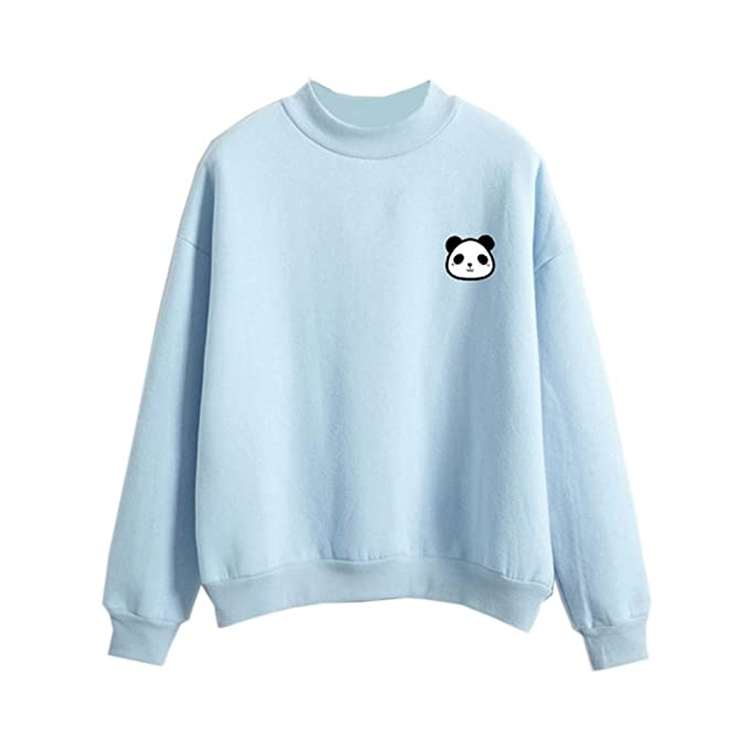 Kawaii Pastel Sweatshirt Fashion Cartoon Panda Print Candy Color Harajuku  Tshirt c781943c1