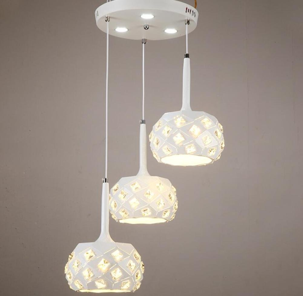 GL&G Modern Style Light Iron feast lamp Chandelier Pendent Light for Hallway,Bedroom,Kitchen,Kids Room Lamps,LED Bulb Included, Warm White Light,3 head,2030cm