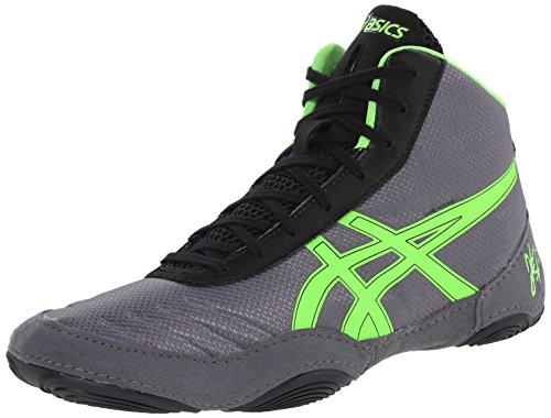 Asics Men's JB Elite V2.0 Wrestling Shoe, Granite/Green G...