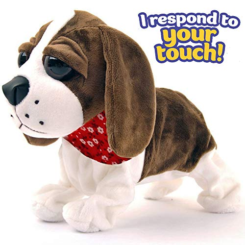 Animated Girl Walking (Liberty Imports Interactive Animated Walking Pet Electronic Dog Plush Sound Control Toy Puppy - Barks, Sits, Walks)