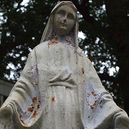 Round Wood Trading Hierro Fundido Envejecido Blanco Virgen María ...
