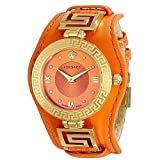 Versace Women's VLA060014 V-SIGNATURE Analog Display Swiss Quartz Orange Watch