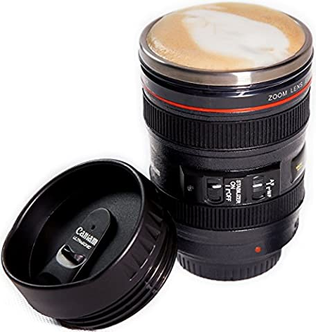 Camera Lens Coffee Mug, Best Photographer Gift, Ideal for Travel, Authentic Replica of the Canon 24-105mm Lens (Mug (Usb Did Drive)