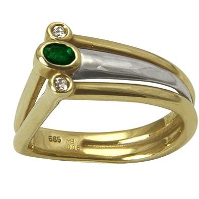 067eb2963a91 Esquí Elka – Juego de diseño JOYAS Anillo Esmeralda oro oro herrero trabajo  ( oro
