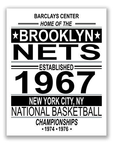 Brooklyn Nets NBA Poster - Vintage Championship Team - 11x14 Matte Poster ()