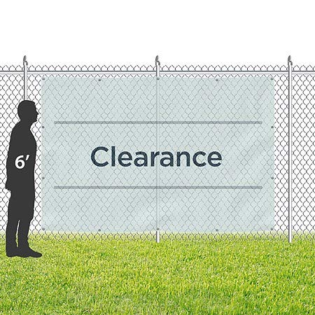 Basic Teal Wind-Resistant Outdoor Mesh Vinyl Banner 12x8 CGSignLab Clearance