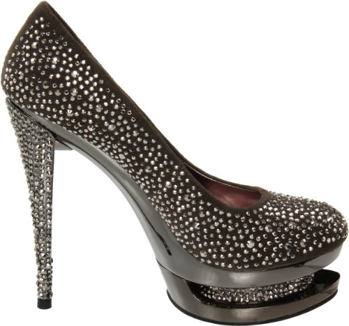 Pleaser Day & Night - zapatos de tacón mujer - Dark grey/pewter