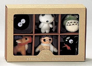 bigstar Studio Ghibli Complete Box 6 Figure Mascots with Key Ball Chain Ver.2 by Corporation by Big Star
