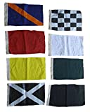 Nascar Flag - Set of 8 Racing Flags Race Nascar Signal Set - 100% Cotton - Little & Very Nice (5102)