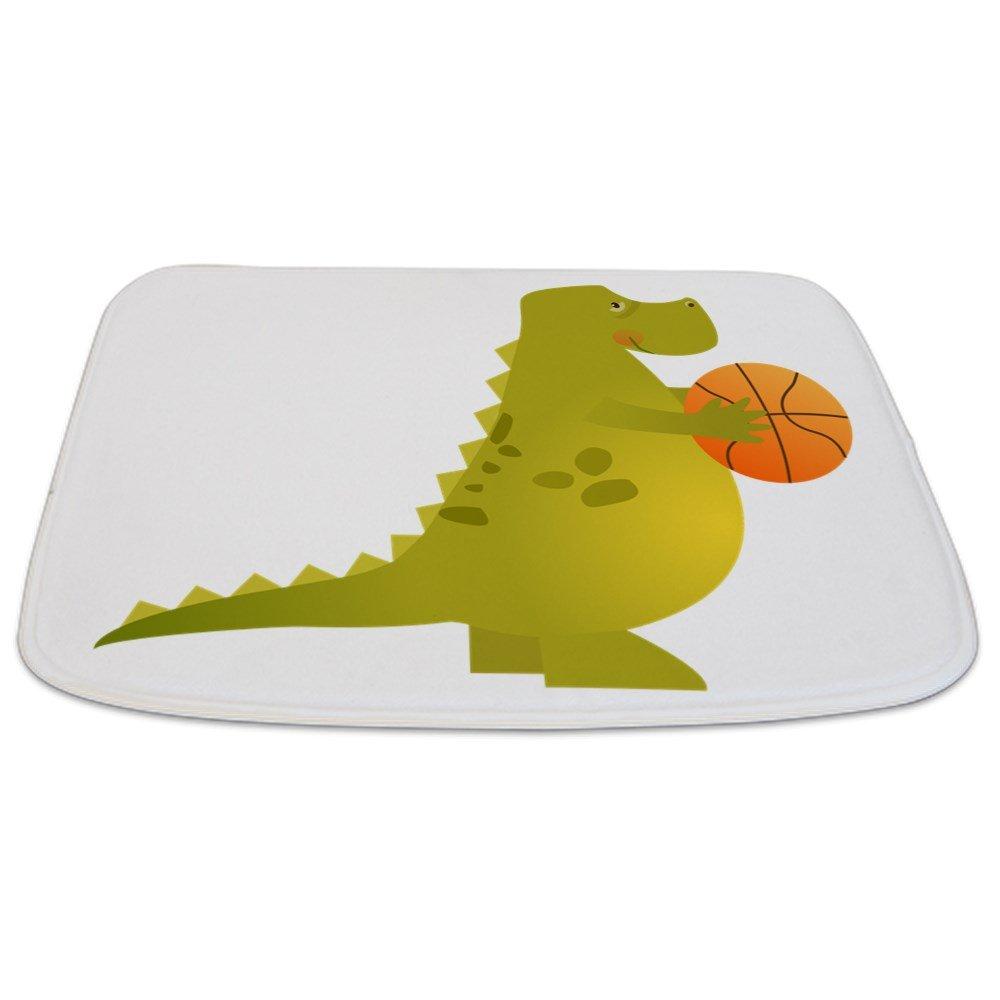 Bathmat Small Basketball Playing Dinosaur