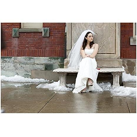 Emmy Rossum Wedding.Shameless Emmy Rossum As Fiona Gallagher Seated Outside Church In