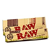 RAW Organic Hemp Natural Unrefined Rolling Paper - King Size Slim 110mm Size (6 Packs)