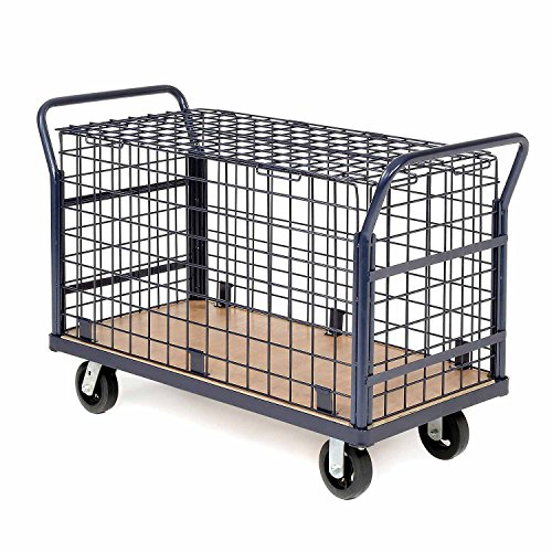 Euro Style Wire Security Deck Truck, 60 X 30 2400 Lb. Capacity