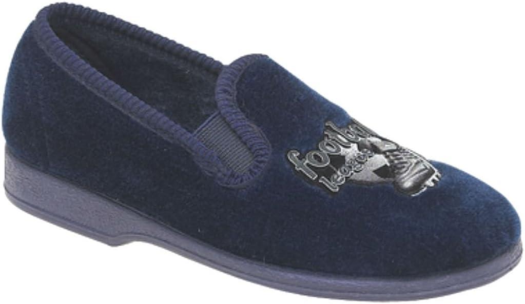 Boys Footballer Velour Slippers UK Sizes 11,12,13,1,2,3,4,5,6,