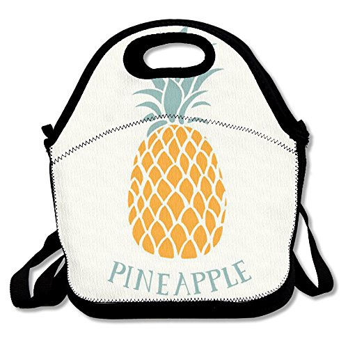 Pineapple Reusable Insulated Lunch Bag School Picnic Thermal Carrying Gourmet Lunchbox Lunch Tote Container Organizer For Women,Teens,Adults-Lunch Boxes For Outdoors,Work, Office, Schoo