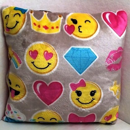 Emoji Faces Home Deco Teens Toddlers Adult Travel Pillow Cushion Kids Plush Soft Toy Toddlers Teens Emojies Expressions (Cute Homemade Owl Costume)