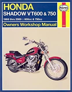 haynes honda shadow vt600 750 owners workshop manual 1988 thru rh amazon com 1983 honda shadow 750 shop manual 1983 honda shadow 750 shop manual