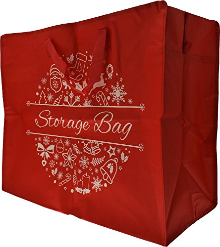 Woven Christmas Xmas Jumbo Storage Bag For Gift Wrapping Paper Baubles Lights Wreaths Presents & Toys ARDALE INTERNATIONAL