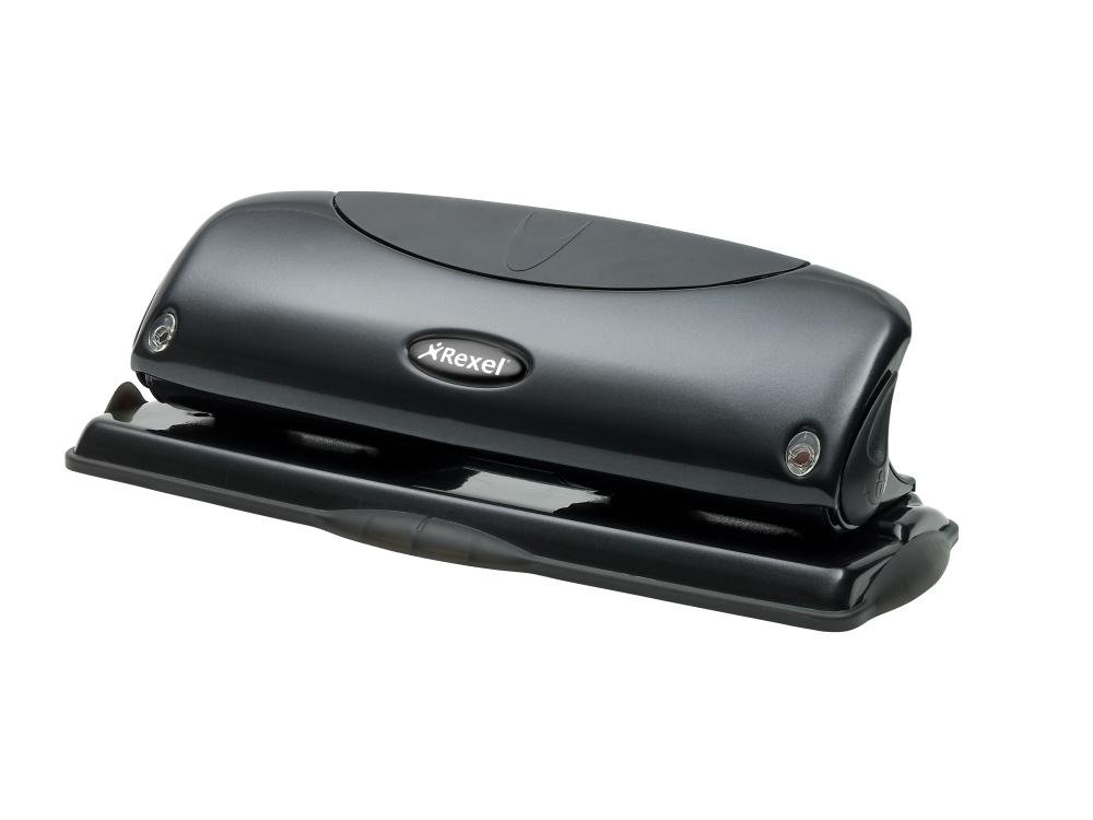 REXEL 4 HOLE PUNCH BLACK P425 2100755