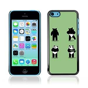 YOYOSHOP [Funny Panda Costume Bear Robber] Apple iPhone 5C Case
